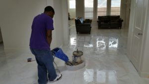 Orlando Stone Works Travertine Polishing