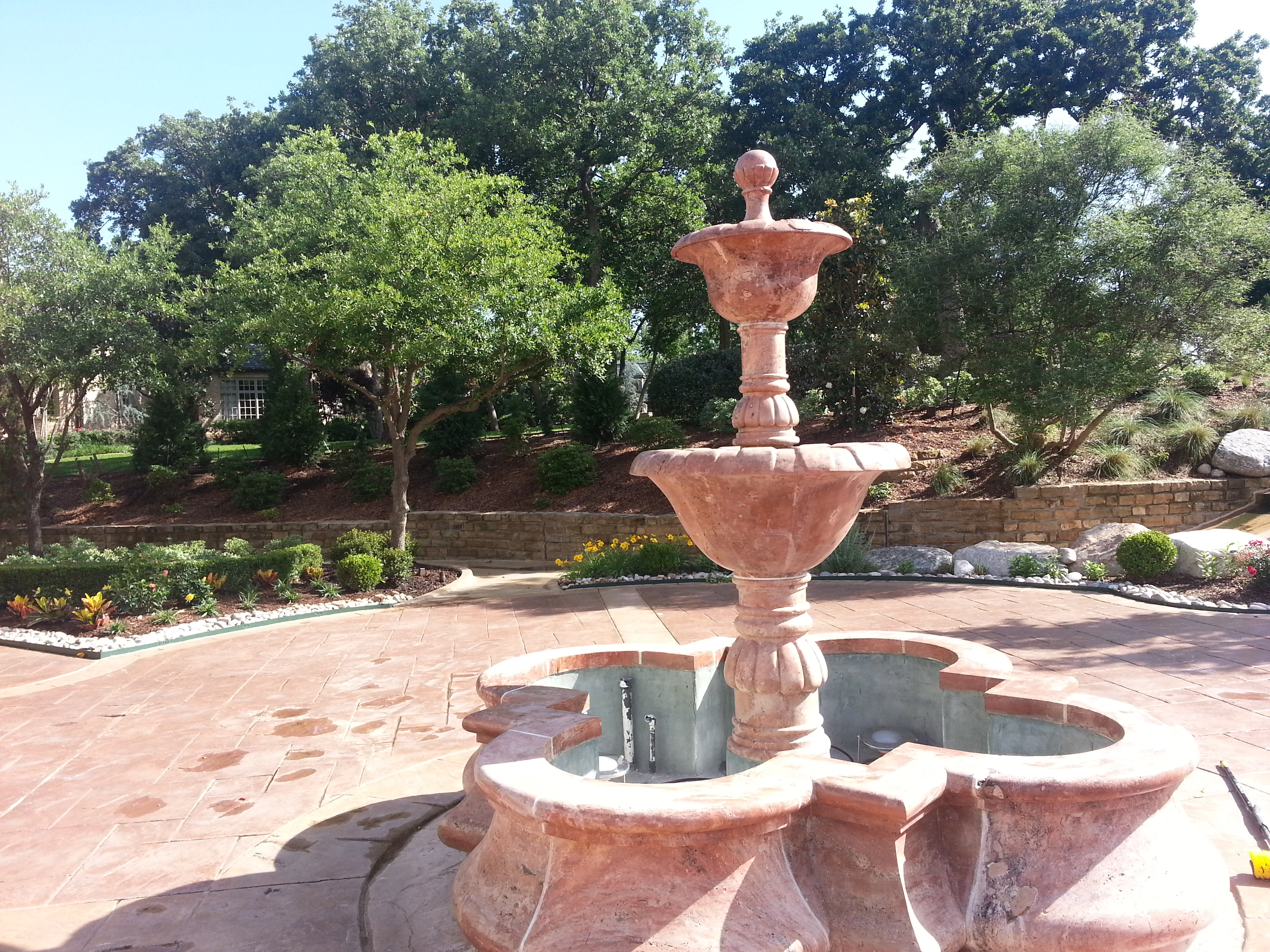 Travertine Fountain Restoration