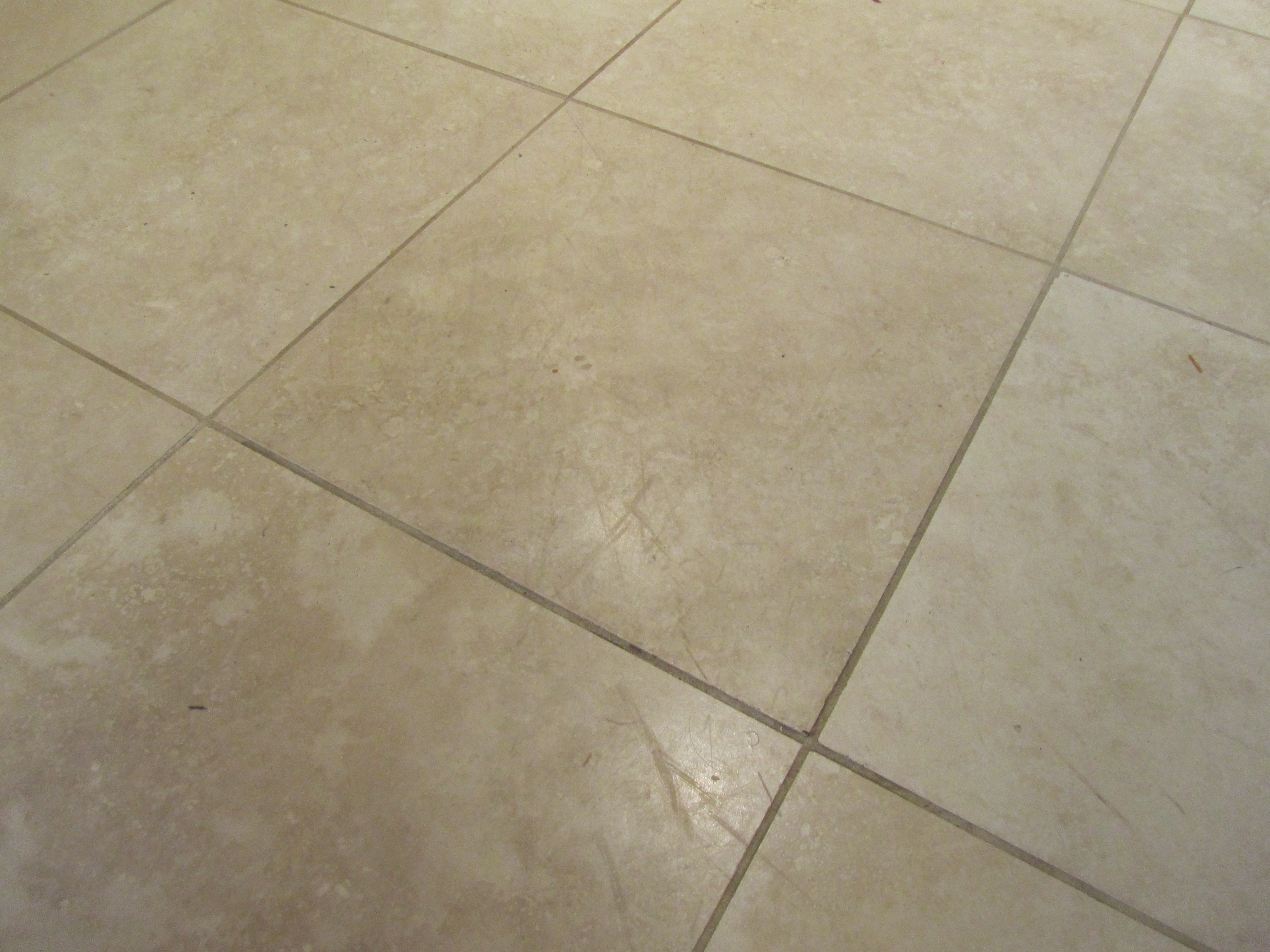 Cleaned Travertine Tiles