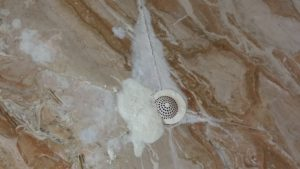 Marble shower with soap