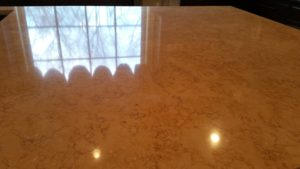 refinished limestone counter top