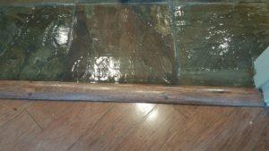 slate floor cleaned and restored