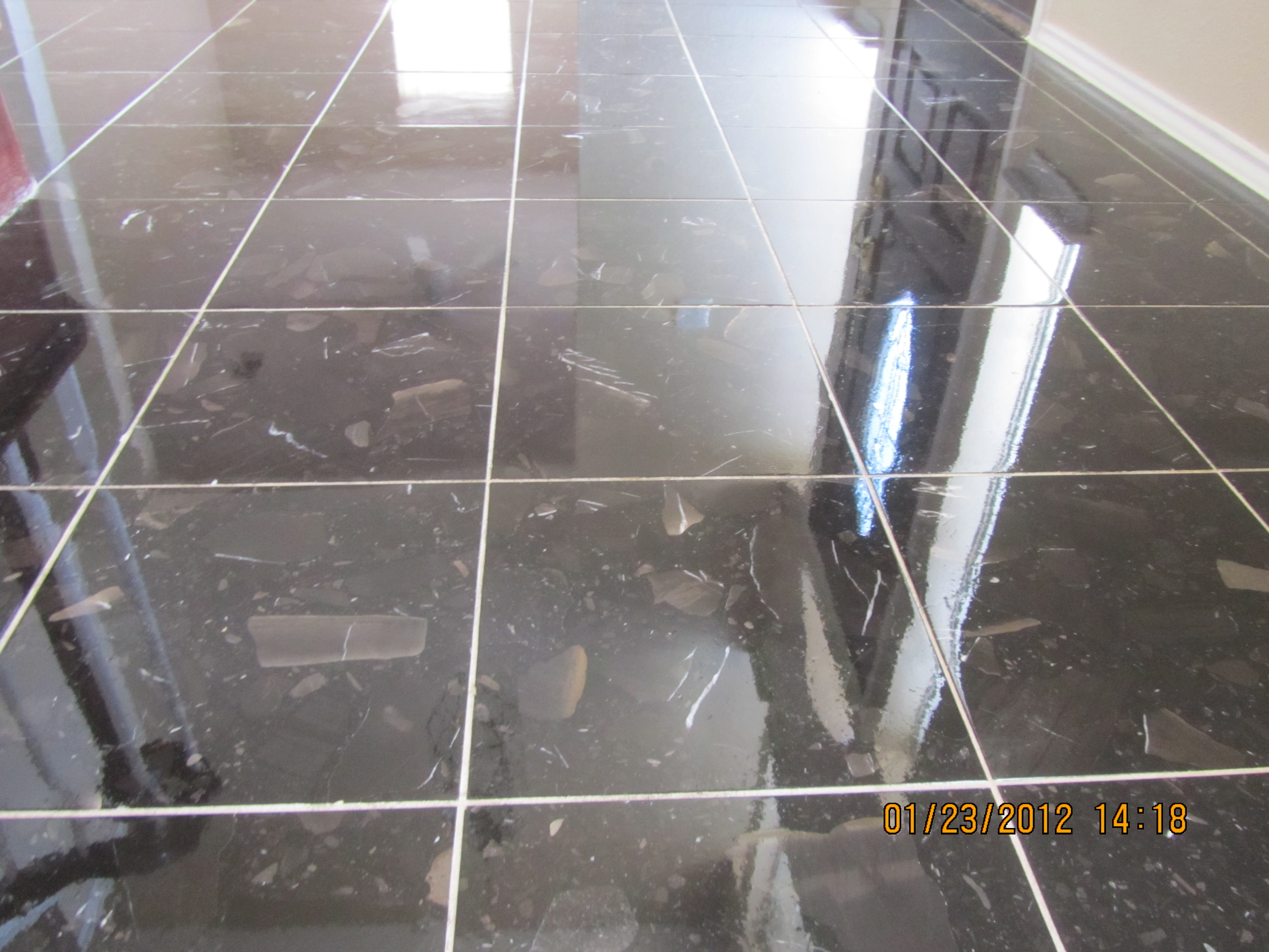 Cleaned and Polished Marble Floor