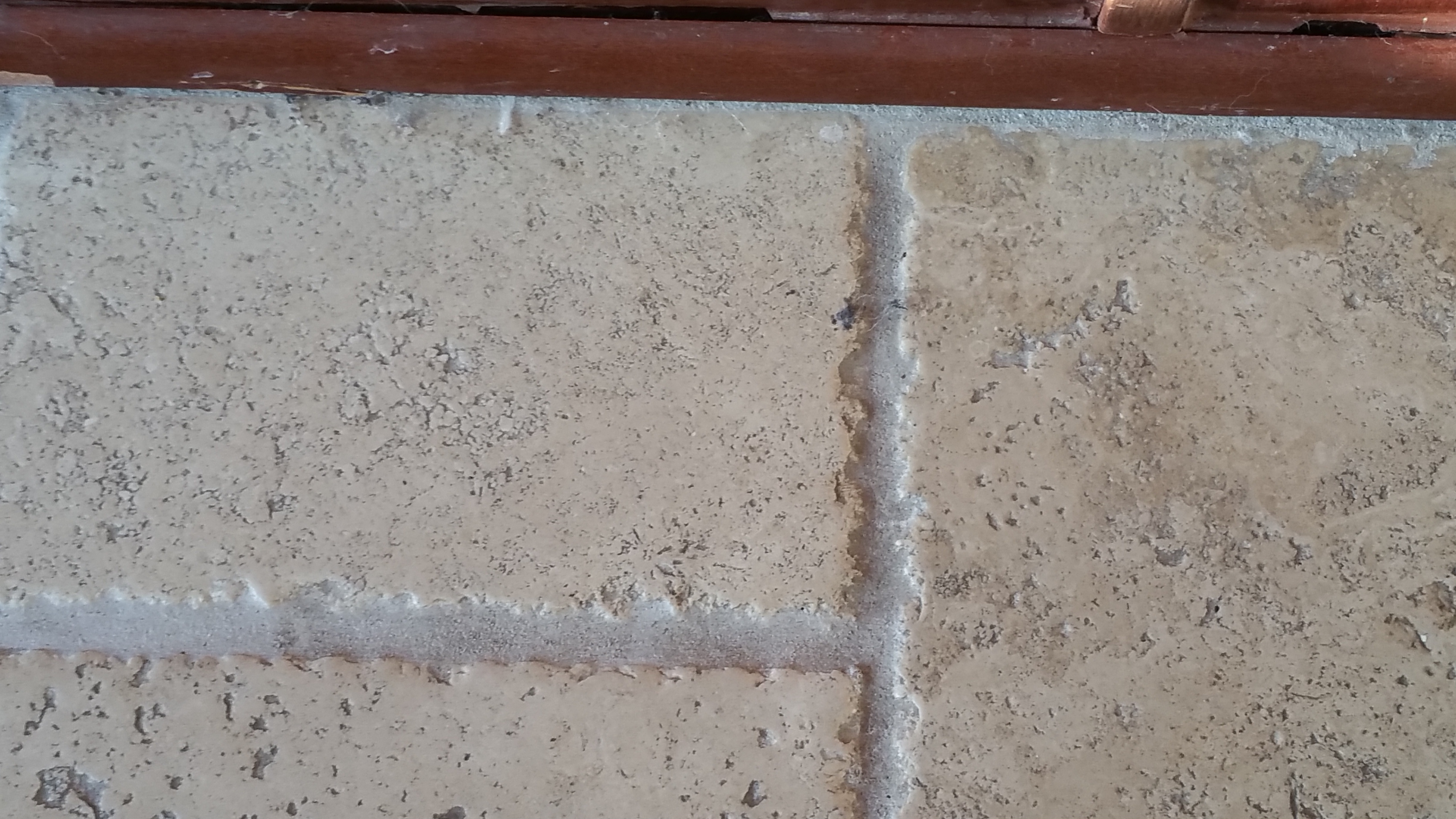 Cleaned Travertine Grout Lines